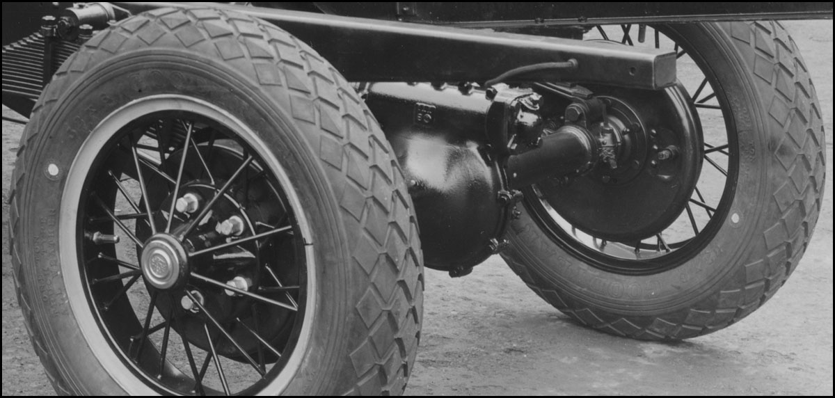 worm type rear axle - 1927-1929